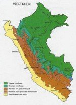 Peru vegetation and weather map