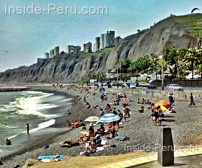 Beach below Miraflores, Lima