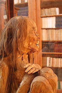 Peruvian mummy at the Carmo Convent
