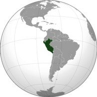 Where is Peru on the world globe?
