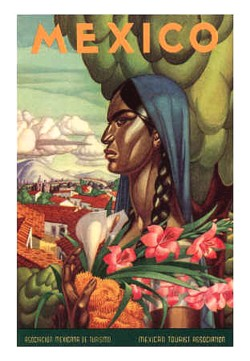 Mexico Travel Reviews Poster lady