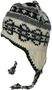 Peruvian hat, Alpaca hat of the Andes, Chullo