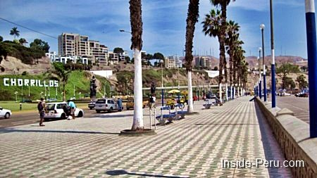 Lima, Captial of Peru, Chorillos Beachfront Avenue