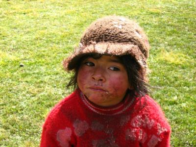 Little Perunian girl in the middle of the trek looking for some choclata(:  ©Maya nitzan