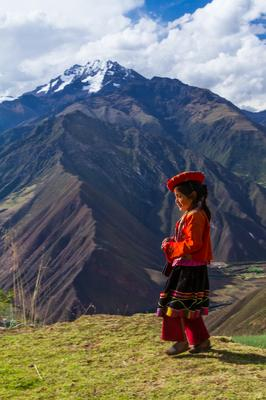 Young girl walking in the Peruvian Andes  - August 2012 Peru Photo Contest